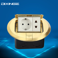 German Standard Round Flat Sockets Luxe PC Panel EU Standard Stopcontact Stopcontact Plug Double Outlet 250V