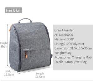 Image 3 - Изоляционная модная Простая Сумка для подгузников, рюкзак для мам, детские сумки для мамы, папы с ремнями для подгузников, Сменные подушечки, влажная сумка