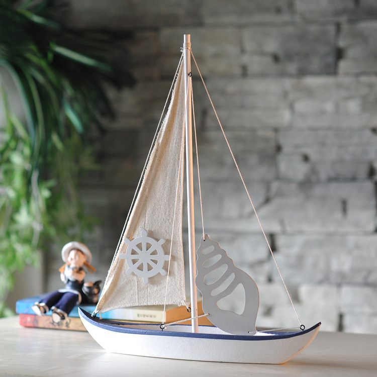 Mediterranean Home Accessories Ship Model Creative Home Furnishing Decoration Sailing Model Decoration Handmade Sailboat Crafts