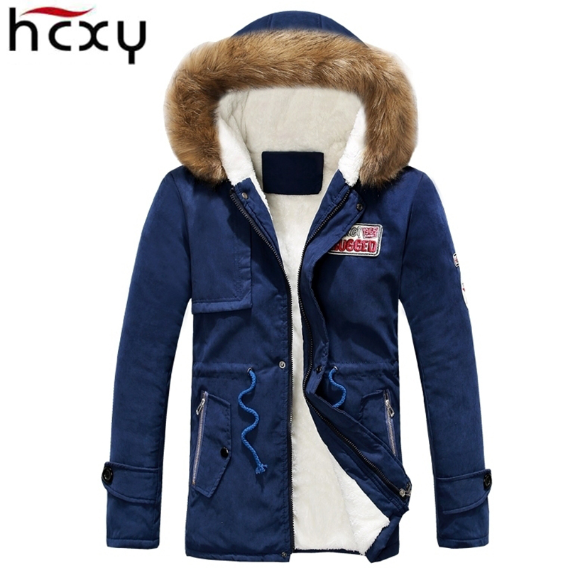 HCXY 2017 new winter jackets men coat hooded jacket warm jacket fleece parka large size brand best-selling men's clothing