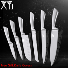 XYj 6PCS Stainless Kitchen Knife Set 7Cr17mov High Hardness Steel Chef Knive Professional Cooking Tools