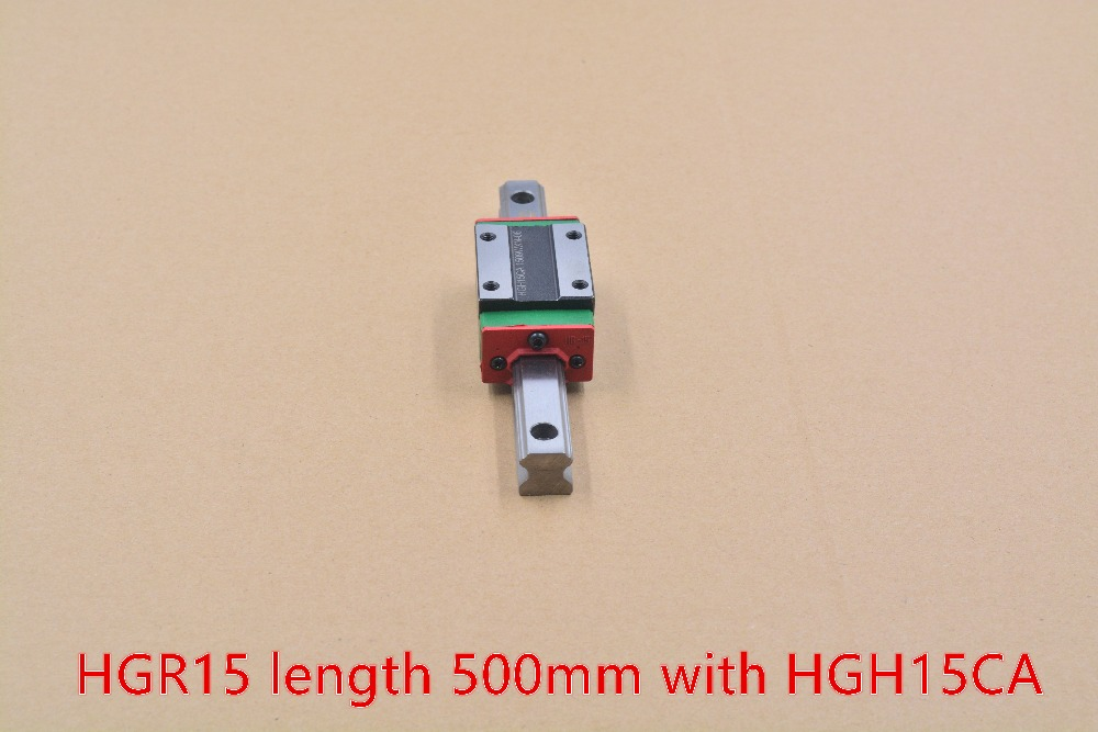 HG linear guide HGR15 width 15mm length 500mm with HGH15CA linear motion slide rail for cnc