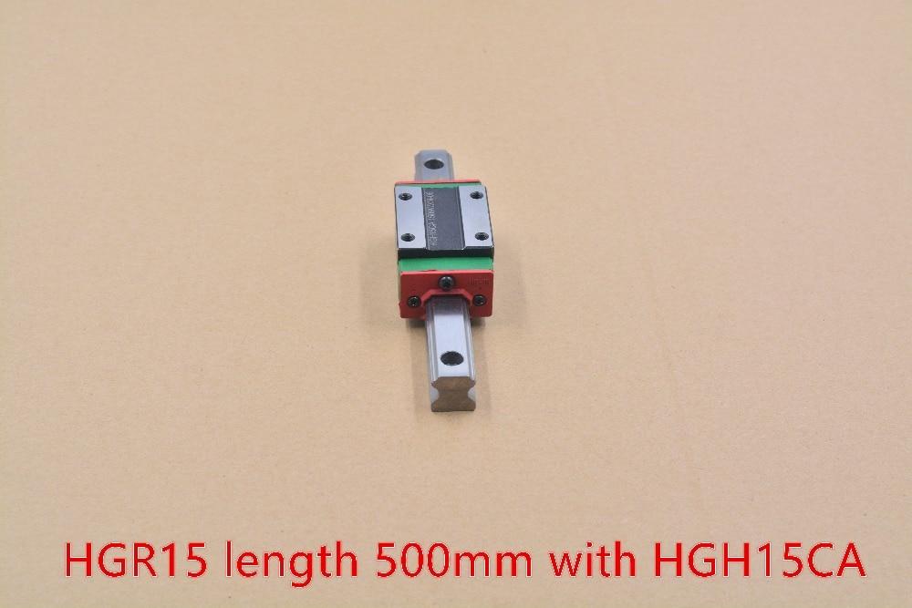 HG linearführung HGR15 breite 15mm länge 500mm mit HGH15CA lineare bewegungen gleitschiene für cnc xyz achse