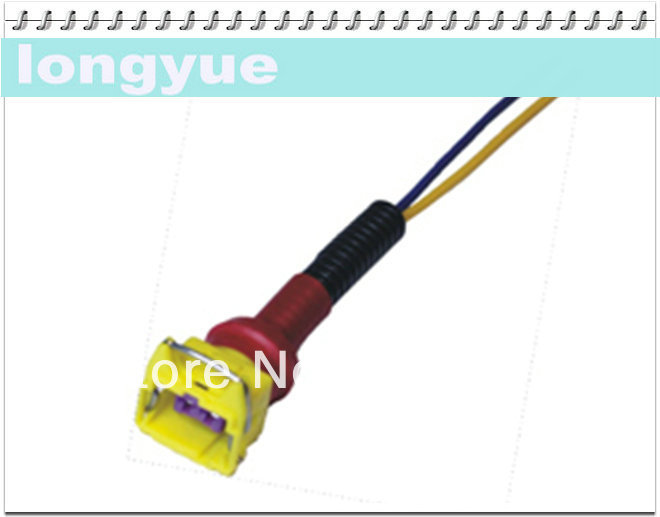356f385f0 Longyue 10 unids universal 2pin Inyectores de combustible cableado del  conector tapones 15 cm alambre ly-005