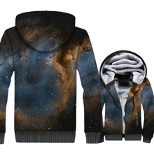 Space Galaxy 3D Print Hoodie Men Colorful Stars Nebula Hooded Sweatshirt Harajuku Coat Winter Thick Fleece Paisley Jacket