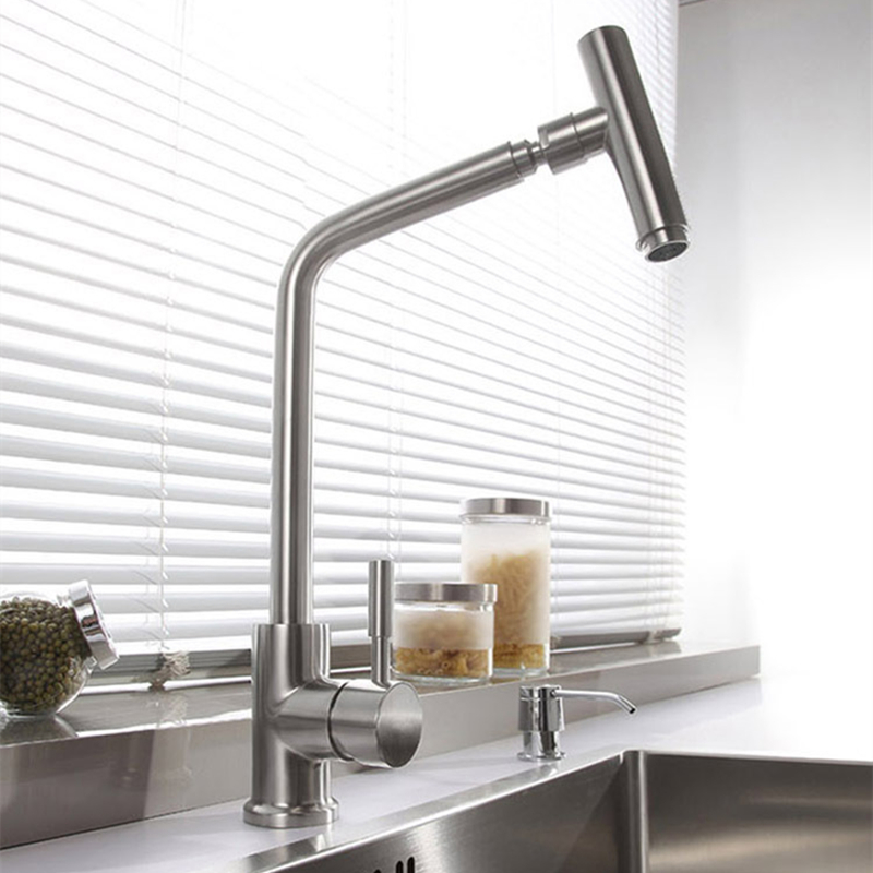kitchen faucets modern sus 304 stainless steel rotatable modern kitchen faucet 13229