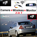 Для Mercedes-Benz MB C-класса W202 3 в 1 Специальный Wi-Fi камера + Беспроводной Приемник + Зеркало Экрана Легко DIY Резервное Копирование Парковка система