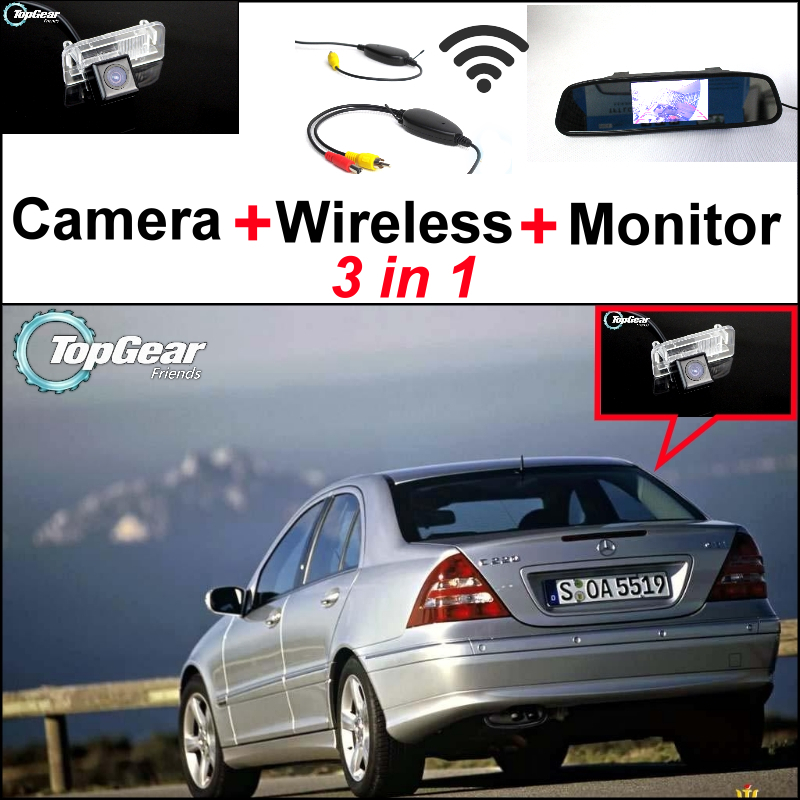 For Mercedes Benz MB C Class W202 3 in 1 Special WiFi Camera + Wireless Receiver + Mirror Screen Easy DIY Back Up Parking System 1s 2s 3s 4s 5s 6s 7s 8s lipo battery balance connector for rc model battery esc