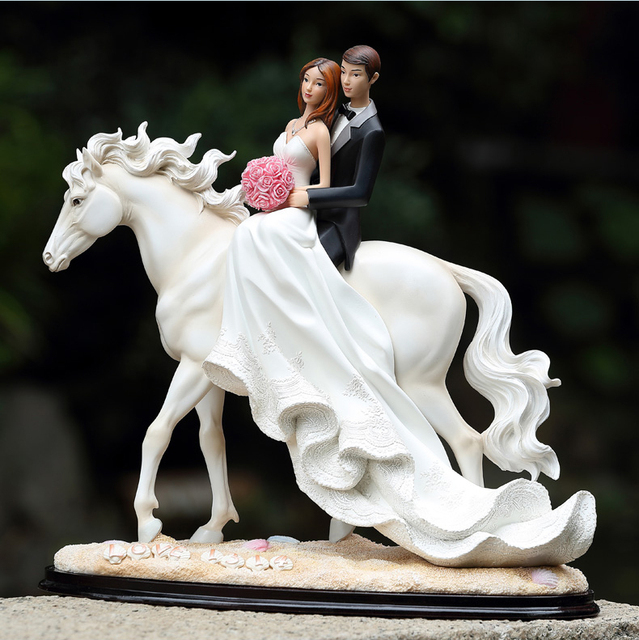 Romantic Love 1314 Wedding Cake Topper Bride And Groom