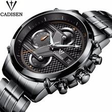 62965d5e0045 Cadisen marca reloj hombre automático fecha impermeable reloj de seis pines  cronógrafo Deporte Hombre reloj de
