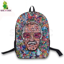 Rest In Peace Stan Lee Collages Backpack Children School