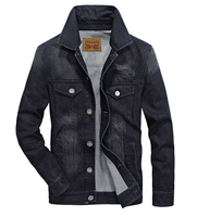 AFS JEEP MEN S JACKETS DENIM CASUAL FASHION AUTUMN WINTER RETRO WASHED REGULAR MENS JACKETS SOLID
