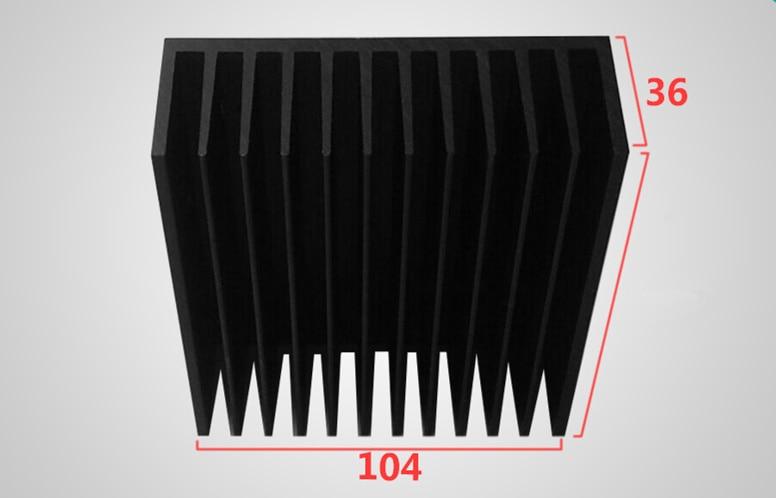 Aluminum heat sink Aluminum Profile 104*36*100 / 150 / 200 / 300mm Heatsink High Power Radiator for large Power Device&PCBAluminum heat sink Aluminum Profile 104*36*100 / 150 / 200 / 300mm Heatsink High Power Radiator for large Power Device&PCB