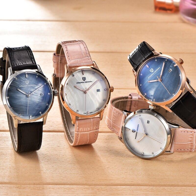 aa248d2c957 PAGANI DESIGN Da Marca de luxo Da Forma Da Senhora Relógio De ...