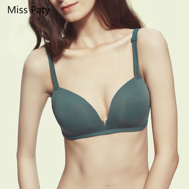 2019 new Women's Intimates light and thin seamless underwear simple ladies no steel ring bra high quality lingerie  bralette