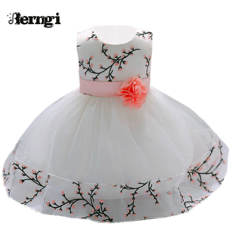 4a33c895 Berngi My Little Baby Girl First Birthday Party Dresses Newborn Baby  Baptism Dress With Bow Toddlers