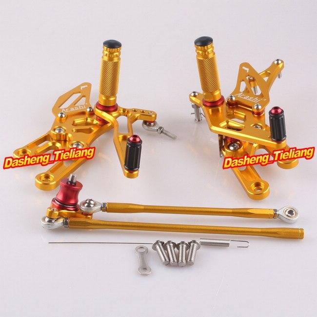 CNC Rearset задний Набор подножки для Honda CBR 1000 RR 2004 2005 2006 2007 и CBR600RR 03 04 05 06