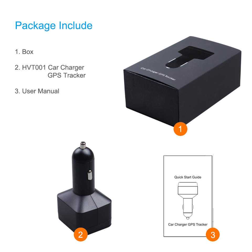 Concox Unique HVT001 Car Charger GPS Tracker With Two USB Charger Port Mini  Vehicle Tracker With Hidden SOS Button Listen-in ACC
