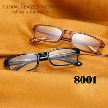 TR90 Ultra-light Reading Glasses Women&Men Foldable Magnifying Presbyopic 8001 BLACK