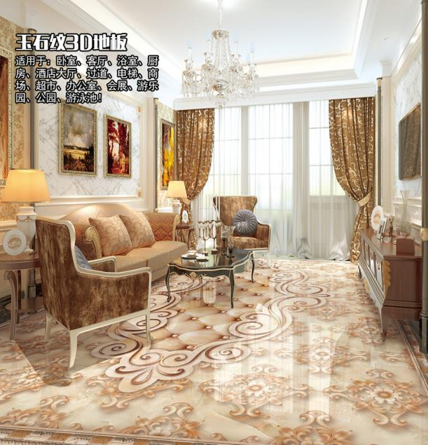 3d stereoscopic flooring wallpaper marble pattern 3d floor murals self-adhesive waterproof PVC wallpaper 3d floor tiles 1 5
