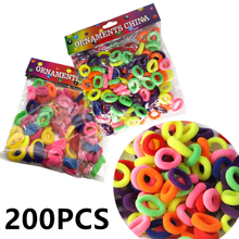 Girls 200Pcs/lot Mix Color Elastic Rubber Hair Band Holders Rings Tie Gum Ropes Accessories Hairdressing Tools