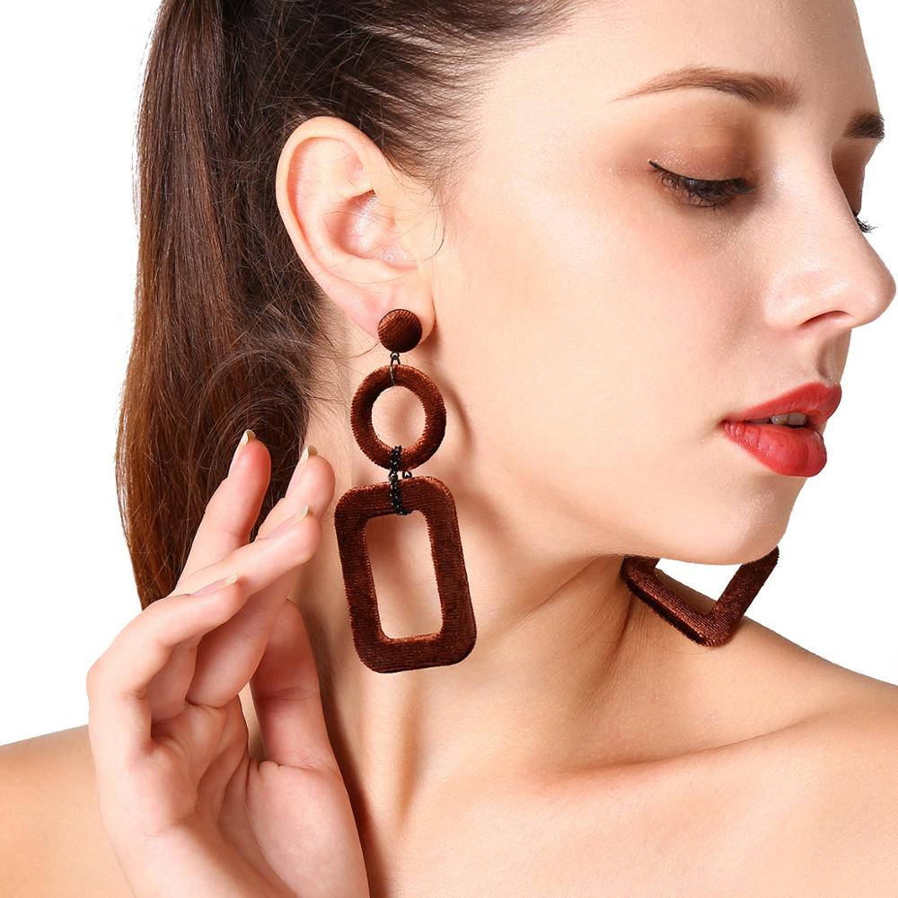 Earrings Fashion Hollow Earrings For Women Tendy Geometric Retro Simple Large Exaggeration Simple Luxury Woman 39 s Jewelry Gifts in Stud Earrings from Jewelry amp Accessories