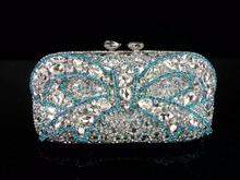 1512 kristall Bogen Silber Dame mode Braut Party Night hohlen Metall Abend handtasche clutch bag handtasche