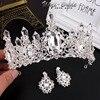 2016 New Silver Bridal Tiaras Crowns Crystal Pageant Bridal Wedding Accessories Headpiece Headband Wedding Tiara