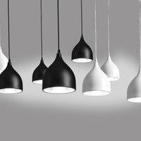 Современный Ресторан лампы один крючок небольшой подвесной светильник Цвет Черные, белые, красные зеленый синий