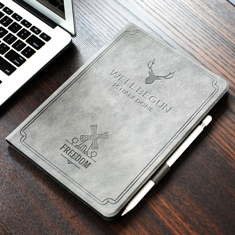 iPad2018 9.7 inch protective sleeve with pen slot tablet computer case shell pencil package anti fall proof 6 Pure color 2018