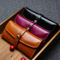 Women Wallets Fashion Hasp Genuine Leather Long Ladies Leather Large Capacity Purse Hand Clutch Bag Coin