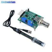 Жидкий PH значение обнаружения сенсор модуль мониторинга плата управления для Arduino BNC электрод зонд управление Лер