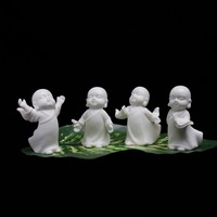 Kleine Buddha statue mönch figur tathagata Indien Yoga Mandala tee haustier lila keramik handwerk dekorative keramik ornamente mönch