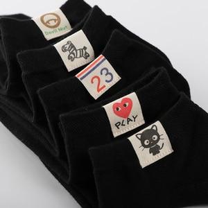 4 par/partia piękne i urocze kobiety kostki bawełniane skarpetki i wyroby pończosznicze marki śmieszne słodkie tkaniny tag letnie fajne skarpetki łodzi femme calcetines