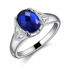 blue zircon shiny Silver plated Ring Fashion Jewerly Ring Women Men PYQXXDOQ ZGQRVXIC