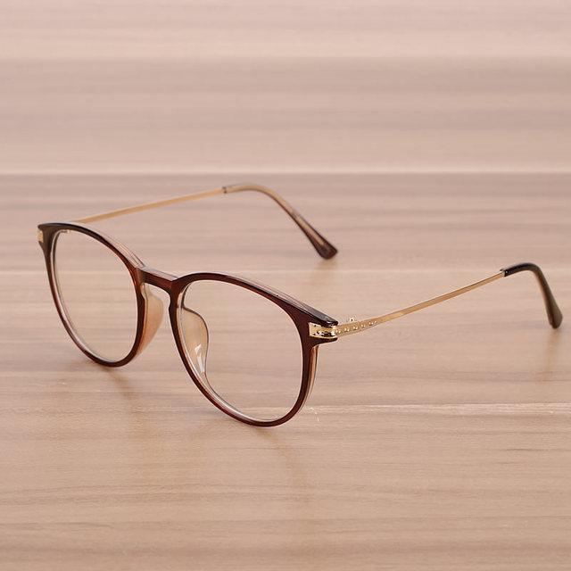Estilo simples das Mulheres E Homens Vidros Ópticos Quadros Limpar Óculos Da  Moda Casuais Masculinos e 5bdc3f2f07