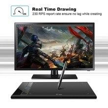 Dijital Tabletler Orijinal Ugee M708 boyama için 10*60 Akıllı Grafik Çizim Tablet şarj edilebilir Kalem Anti-kirlenme eldiven