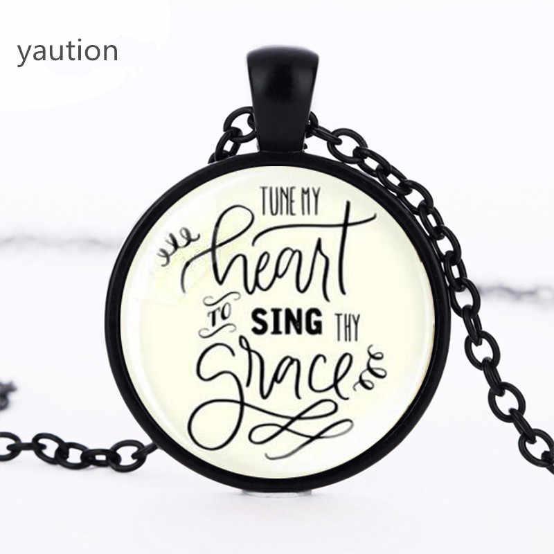 New Điều Chỉnh vào của tôi Mặt Dây Chuyền Trái Tim Hát thy Quote Necklace Glass Ảnh Mặt Dây Vòng Quà Tặng Đồ Trang Sức Đàn Ông Phụ Nữ Silver