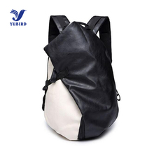 Fashion Men s Backpack Casual Travel Backpack PU Leather Backpacks Man School Shoulder Bag Zipper Laptop