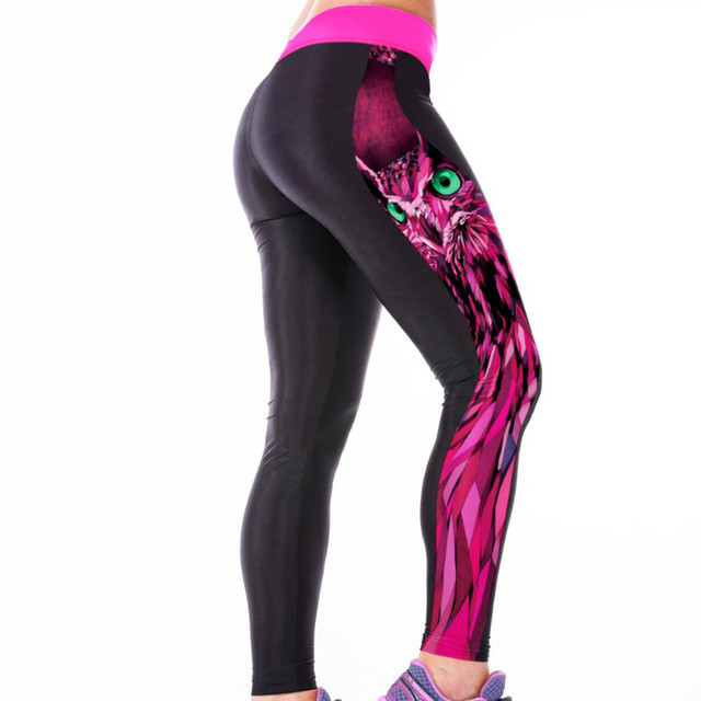 Rose Owl Gym Leggings