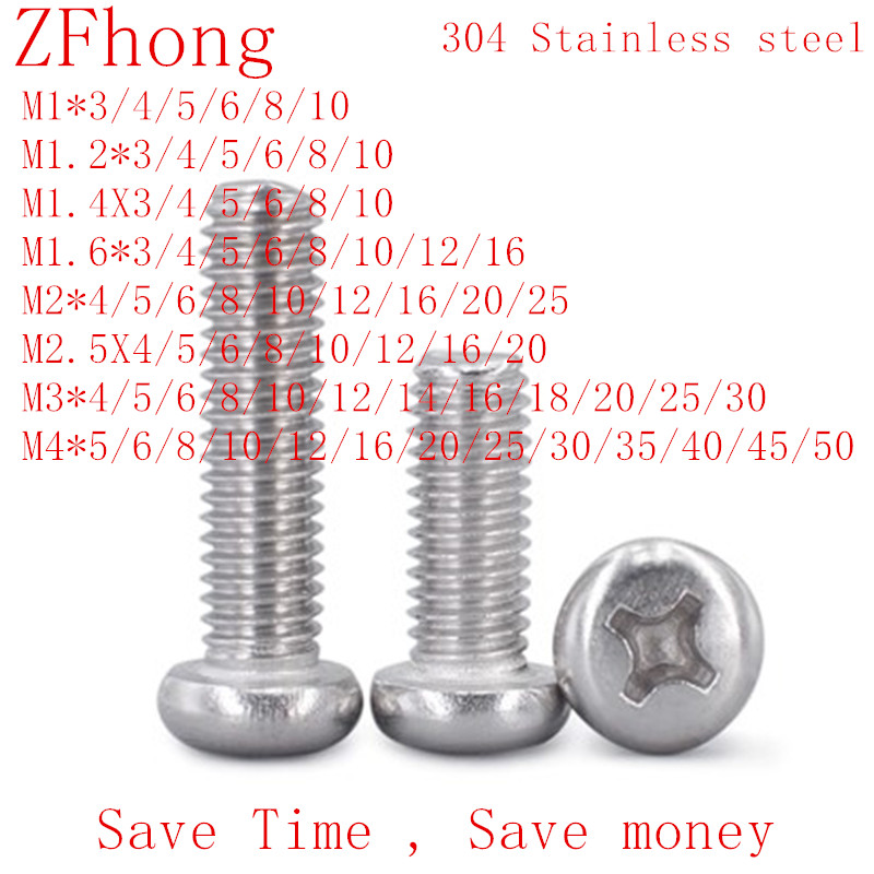 Machine Screw M3 x 8 Phillips Pan Head Double Washers Steel Zinc Lot of 100#5191