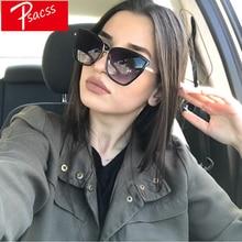 Psacss 2019 Vintage Cat Eye Sunglasses Women Men Metal Brand Designer Womens Sun Glasses Female Retro Mirror gafas de sol mujer