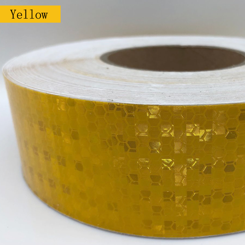 Купить с кэшбэком 5cmx50m Reflective Material Tape Sticker Automobile Motorcycles Safety Warning Tape Reflective Film Car Stickers
