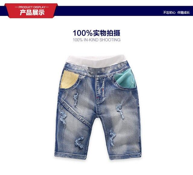 2016 весна и лето дети одежда свободного покроя джинсы брюки, Мальчики джинсы для 2 - 10 т