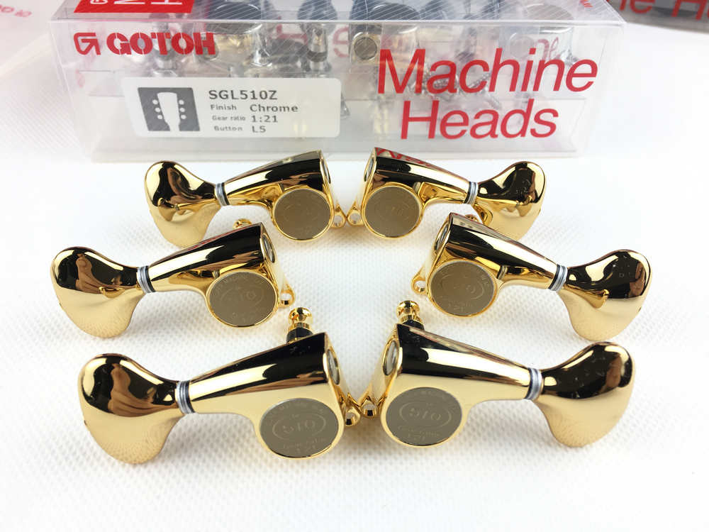 Genuine Original L3+R3 GOTOH SGL510Z L5 Electric Guitar Machine Heads Tuners ( Gold ) MADE IN JAPAN - 2