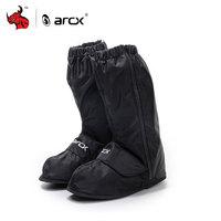 ARCX Motorcycle Waterproof Rain Shoes Adjustable Tightness Reusable Waterproof Non Slip Rain Black Shoes Boots