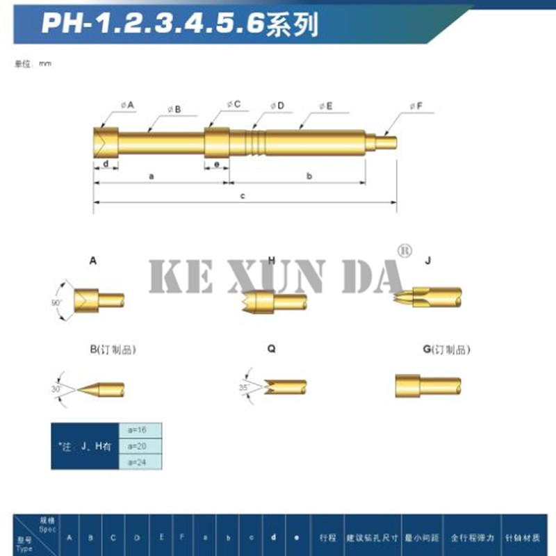 Integrated Circuits Sensible 100pcs/pack Probe Ph-1a/1b/1h/1q/1e/1d/1g Pcb Test Probe