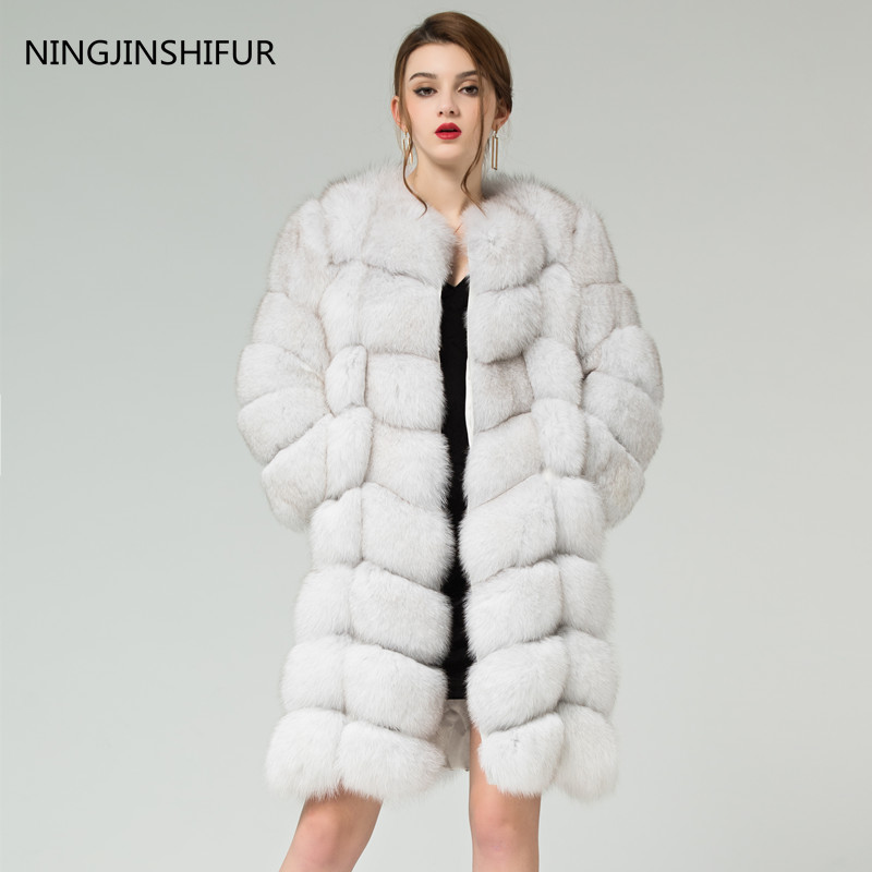 Real Fur Fox Fur Vest Is 90 Cm Long Coat Sleeves Design Women Free Shipping Removable Sleeves The High Quality Fox Fur Coat