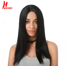 HairUGo Brazilian Hair Straight Lace Front Wig Pre Plucked Natural Hairline Human Wigs For Black Women Remy