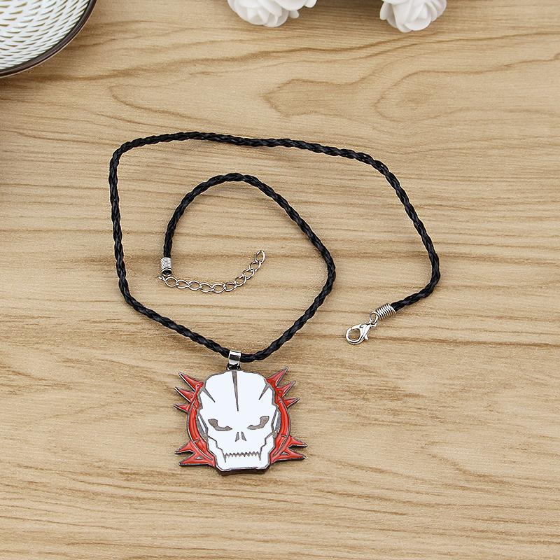 Classic Movie Jewelry PS4 Game Duty Ghost Joint Offense Black OPS Pendant Necklace Call Black Leather Rope Collar Gift